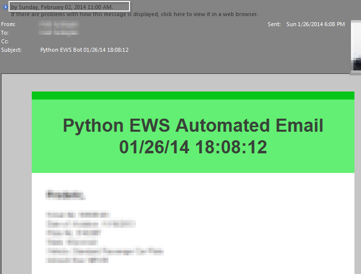 Sending an Email on Microsoft Exchange with Python